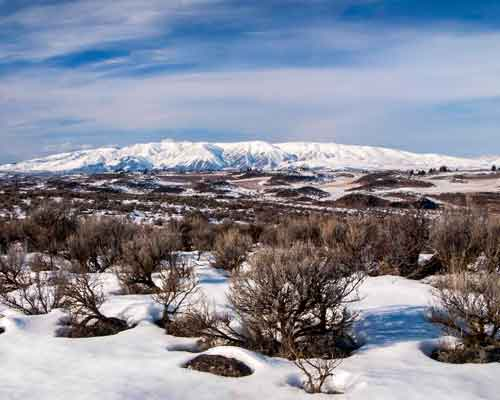 Cowiche Canyon Conservancy Uplands Snow Hiking Shrub-Steppe Trails Yakima, WA Conservation Photo: David Hagen