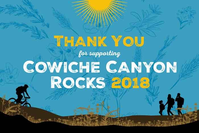 Cowiche Canyon Rocks Thank You 2018 Postcard Cowiche Canyon Conservancy