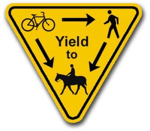 Cowiche Canyon Conservancy Share-the-Trail Sign Safe Hiking Yakima, WA