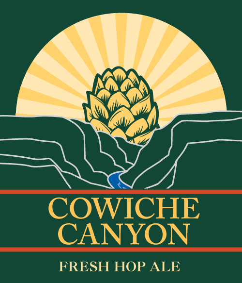 Cowiche Canyon Fresh Hops Ale Logo Lower Trail Organic Fremont Brewing Company Conservation Community Recreation Local Economy