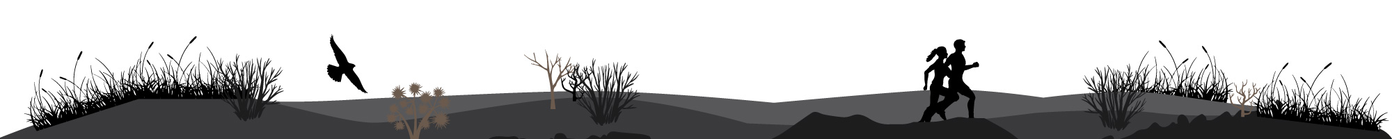 Runners Uplands Cowiche Canyon Conservancy Recreation Hiking Shrub-Steppe Illustration