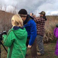 april 2018 bird walk binoculars