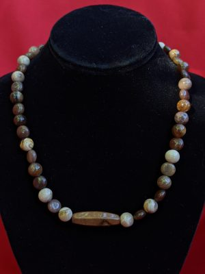 coffee jasper bead necklace