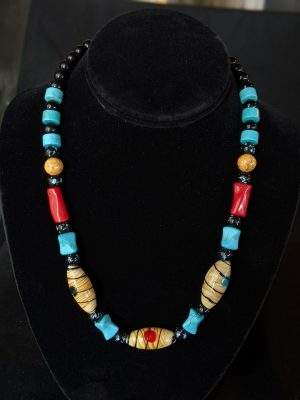 colorful mod necklace
