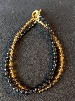 onyx and gold glass bracelet